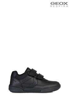 Geox Junior Boy/Unisex Poseido Black Velcro Trainers