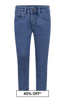 Boys Blue Cotton Denim Jeans