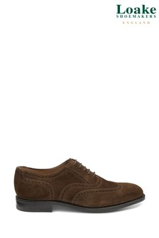 Loake Brown Suede Brogue Shoes