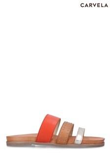 Carvela Orange Antigua Sandals