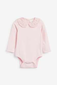 Pink Lace Collar Body (0mths-3yrs)