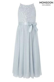 Monsoon Truth Grey Sequin Maxi Dress