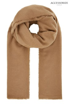 Accessorize Camel Wells Supersoft Blanket Scarf