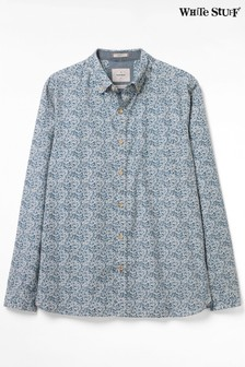 White Stuff Blue Border Print Shirt