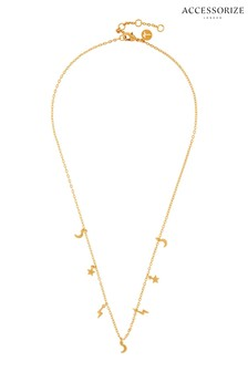 Accessorize Gold Plated Celestial Station Charm Necklace