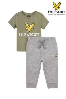 Lyle & Scott Eagle Logo T-Shirt And Jogger Set