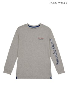 Jack Wills Boys Grey T-Shirt