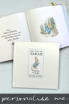Personalised Peter Rabbit Hopping into Life Book by Signature Gifts
