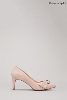 Phase Eight Neutral Sim Suede Bow Court Shoes