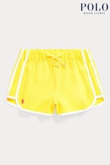 Ralph Lauren Yellow Pique Logo Shorts