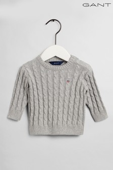 GANT Cotton Cable Crew Sweater