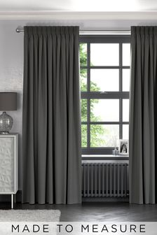 Cotton Charcoal Grey Made To Measure Curtains