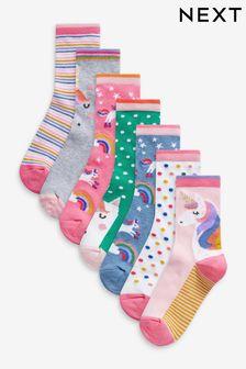 Unicorn 7 Pack Ankle Socks