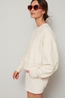 Ecru Co-ord Jersey Sweatshirt