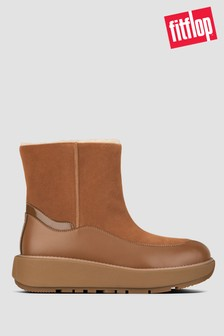 FitFlop Tan Elin Suede Ankle Boots
