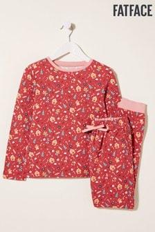 FatFace Red Gingerbread House Pyjama Set