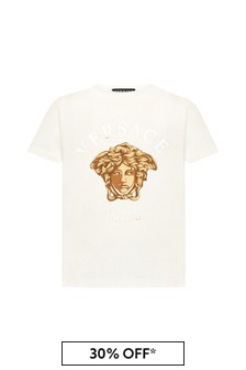 Kids White Cotton T-Shirt
