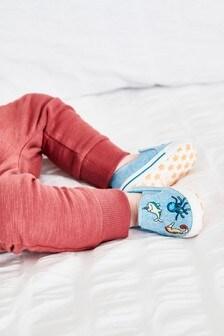 Blue Slip-On Pram Shoes (0-24mths)