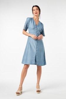 Blue Cutwork Embroidered Dress