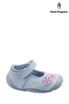 Hush Puppies Blue Lara Touch Fastening Shoes