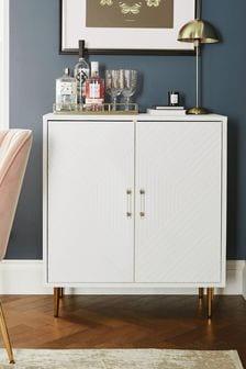 White Textured Cabinet