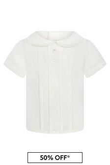 Baby Boys Cream Cotton Shirt