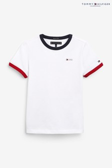 Tommy Hilfiger White Ringer T-Shirt