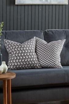 2 Pack Cut Velvet Cushion Covers