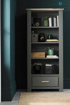 Oakham Dark Grey Scandi Oak Bookcase by Bentley Designs