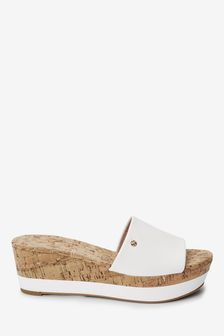 White Forever Comfort® Mule Wedges