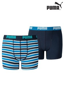Puma® Classic Printed Stripe Boy's Boxers 2 Pack