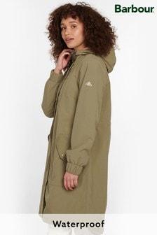Barbour® Coastal Waterproof Longline Greylag Lightweight Rain Coat