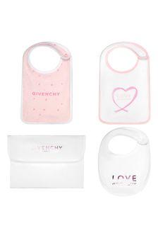 Baby Unisex Pink Cotton Bib Set