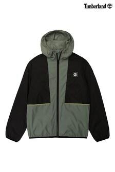 Timberland® Khaki/Black Zip Windbreaker Jacket