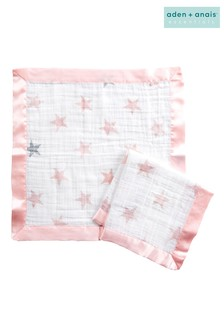 aden + anais Essentials Pink Security Blankets Two Pack