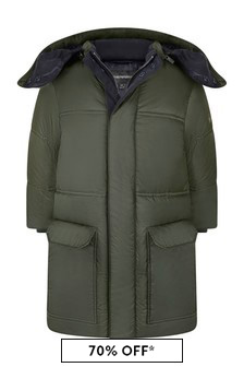 Boys Green Padded Coat