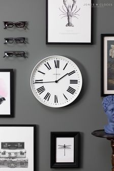 Jones Clocks Magazine White Wall Clock