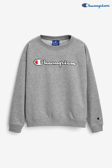 Champion Youth Grey Crew Jumper