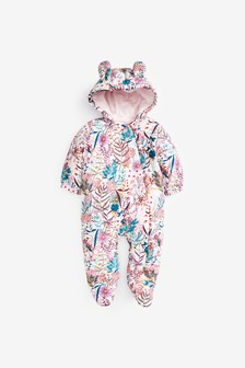 Lilac Floral Cord Pramsuit (0mths-2yrs)
