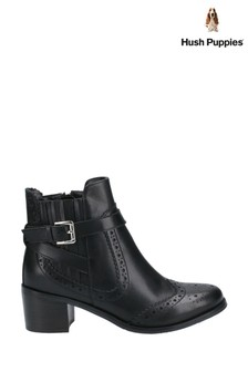 Hush Puppies Black Rayleigh Ankle Boots
