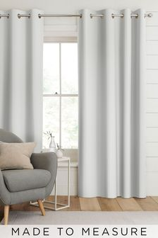 Aria Silver Metallic Made To Measure Curtains