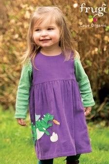 Frugi GOTS Organic Purple Dragon Cord Dress