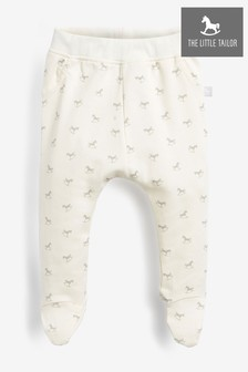 The Little Tailor Cream All Over Print Rocking Horse Jersey Slouch Pants