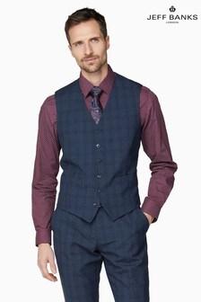 Jeff Banks Blue Soho Suit Waistcoat
