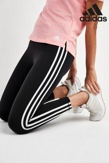 adidas Black 3 Stripe 7/8 Leggings