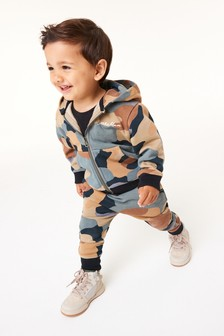 Mineral Camo Jersey Zip Through And Jogger Set (3mths-7yrs)
