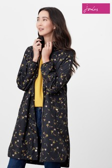 Joules Black Waybridge Waterproof Raincoat