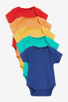 Bright 5 Pack Short Sleeve Bodysuits (0mths-3yrs)