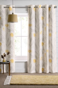 Modern Daisy Eyelet Curtains