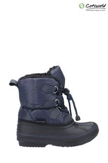 Cotswold Blue Explorer Bungee Lace Snow Boots